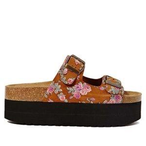 Jeffrey Campbell Aurelia Floral Platform Sandals
